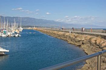 breakwater by santa barbara pier