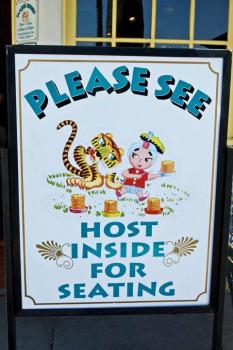 sign at Sambos