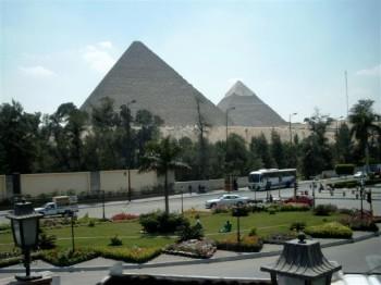 Egypt's Giza Pyramids And The Sphinx In Cairo