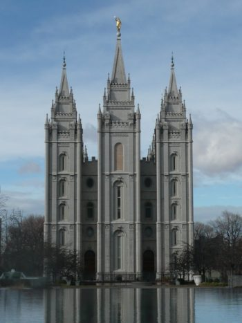 Temple Square And Downtown Salt Lake City