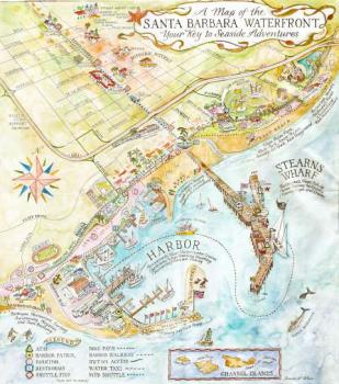 santa barbara waterfront map