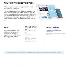 Apple to Host Travel App Event