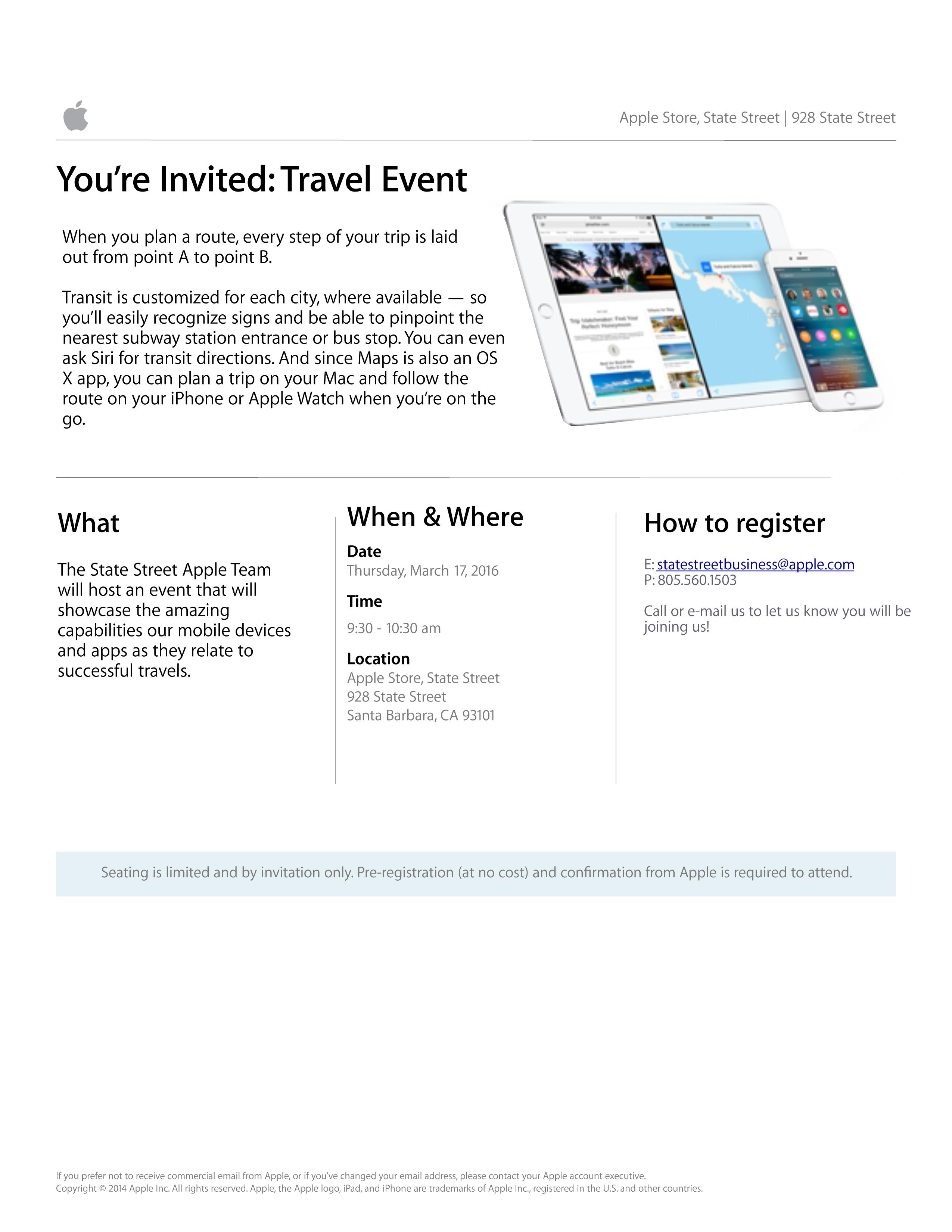 Travel App Event