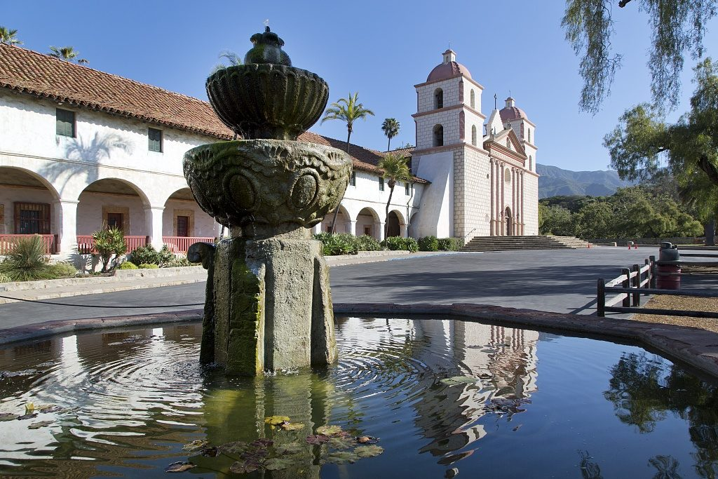 Mission Santa Barbara Fountain